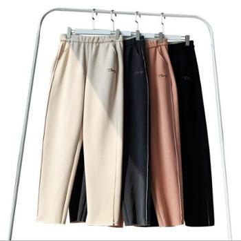 时尚流行樱花裤加绒宽松显瘦休闲直筒奶奶裤女哈伦萝卜裤秋冬