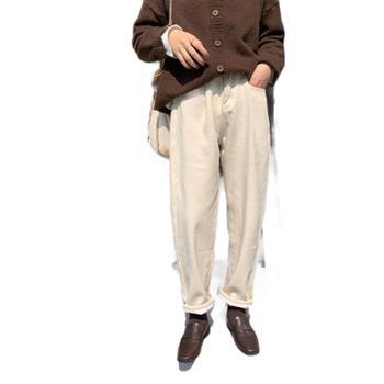 Hooozen老爹裤宽松高腰加绒直筒裤冬季韩版加厚休闲裤女装K7830