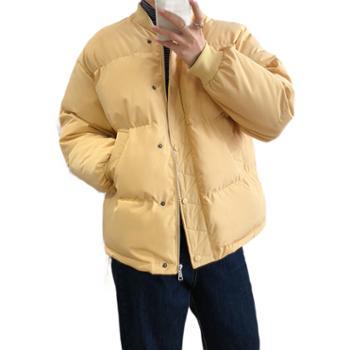 鹿西 棒球服棉衣女短款韩版bf宽松棉袄面包服冬季外套