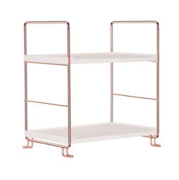 北欧玫瑰金桌面铁艺置物架多功能浴室洗手间厨房调料收纳架