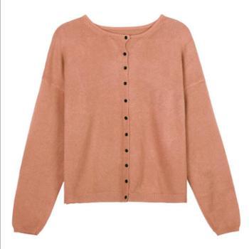 糖果色短款针织衫女春季款韩版圆领毛衣开衫M1766
