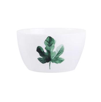 ins北欧绿植方碗家用米饭碗陶瓷餐具吃饭碗盘碟套装