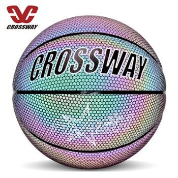 CROSSWAY/克洛斯威*反光篮球7号星空夜光室外耐磨网红同款荧光花式街球3901
