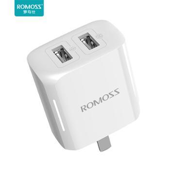 ROMOSS/罗马仕AC12T手机充电器头2.1A快充双USB可折叠插头苹果iPhone6/7/8plus华为OPPO小米vivo手机通用安卓