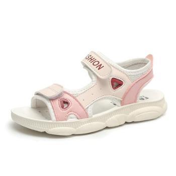 慕思女童公主凉鞋儿童舒适软底沙滩鞋中大童学生凉鞋