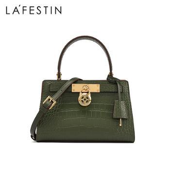 La Festin/拉菲斯汀女士真皮手提包包单肩斜挎女包铂金包凯莉包620725