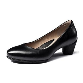 AEHV商务女鞋 皮鞋 正装鞋 银行公安职业装单鞋0151-1 一体注塑鞋健康