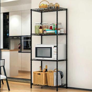 索尔诺置物架厨房 落地浴室层架 卫生间卧室收纳储物微波炉架子