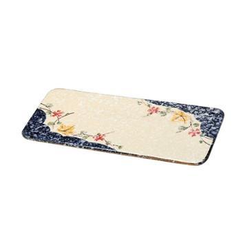 佰润居日式和风10寸平板盘陶瓷日料寿司饺子盘手绘餐具盘子长方盘