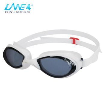 LANE4品牌成人泳镜一体式镜框防水防雾抗紫外线游泳眼镜A705