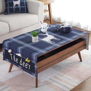 缤谷 北欧风格加厚棉麻布艺桌布茶几布长方形茶几垫餐桌布电视柜盖布