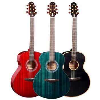 MUXIKA慕西卡吉他40寸民谣吉他G20a红黑蓝三色可选