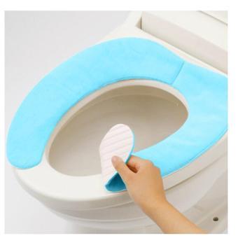 云蕾粘贴式马桶垫(2对4片装加厚加绒)马桶套坐垫圈吸汗坐便18492