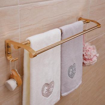 双庆(ShuangQing)无痕贴双杆毛巾架浴室毛巾挂架免打孔
