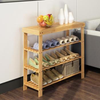 小鞋架子简易鞋柜换鞋凳经济型家用置物架宿舍女省空间门口楠竹