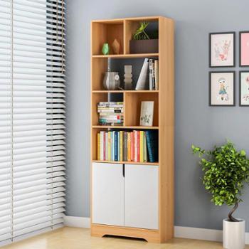 书柜书架简约现代小书架落地简易置物架卧室组合学生用桌上省空间