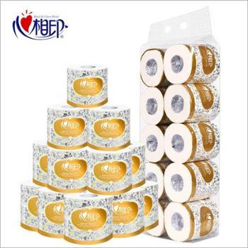 心相印卷纸卷筒纸家庭装卫生纸一提装10粒