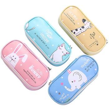 聚点大容量时尚潮人新创意款韩国学生文具盒PU笔袋