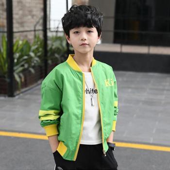 百旅Bailv秋款男童时尚夹克外套