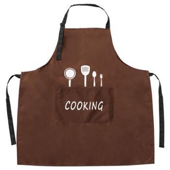 家用厨房漂亮女士围腰防水防油加厚韩版时尚围兜大人做饭围裙男
