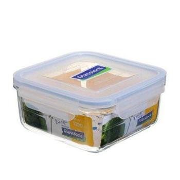 Glasslock韩国进口耐热钢化玻璃方形保鲜盒1200mlMCSB120-