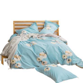 宁好喷气斜纹简约优品全棉四件套 纯棉床单被套单人三件套双人4件套简约床上用品