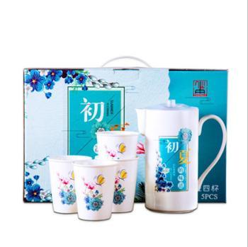 初夏 一壶四杯 水具套装 陶瓷凉水壶 冷水壶 礼品定制