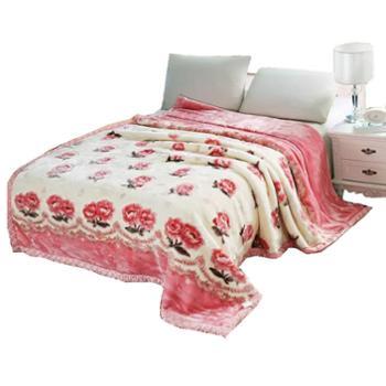 葉岚加厚拉舍尔毛毯双层冬季午睡毯子单双人盖空调毯 1.8X2.2 6斤