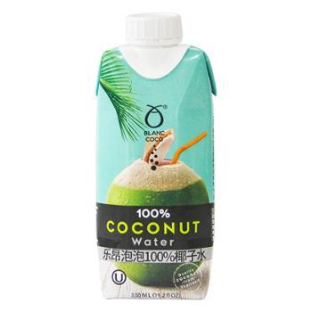 泰国进口 乐昂泡泡100%椰子水 330ml*12瓶