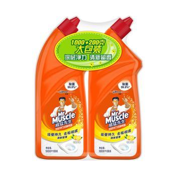 威猛先生深层净力洁柠檬草600g洁厕液2瓶装