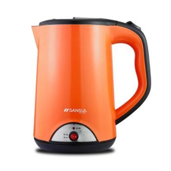 山水(SANSUI)电热水壶 保温壶 电水壶 烧水壶 双层防烫保温烧水壶 大容量 YY-17B05