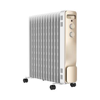 美的(Midea) NY2213-18GW取暖器家用节能13片电油汀暖气片电暖气