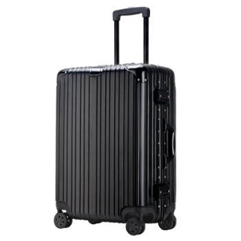 Y6 高端商务旅行万向轮铝框拉杆箱9504 拉丝 20寸/24寸