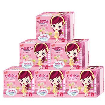 七度空间卫生巾少女系列纯棉超薄日用245mm5片量贩组合6包