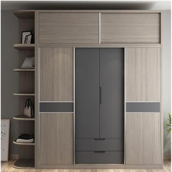衣柜北欧现代简约推拉门衣柜移门衣柜卧室趟门大衣橱