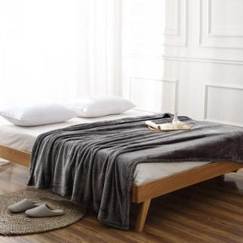 朴生盖毯网眼法兰绒毯轻便多用绒毯