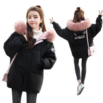 垂柳冬款面包服女学生韩版短款ins冬季外套羽绒棉服宽松bf加厚GJC7795