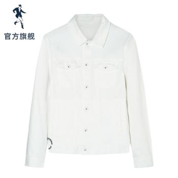 与狼共舞夹克男潮新款韩版牛仔外套