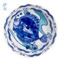 伊陶 日式家用盘水果盘创意果盘菜盘8英寸蓝鱼盘/个