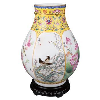 一门六师五福瓷瓶景德镇陶瓷世家:张松茂、徐亚凤家族共同创作