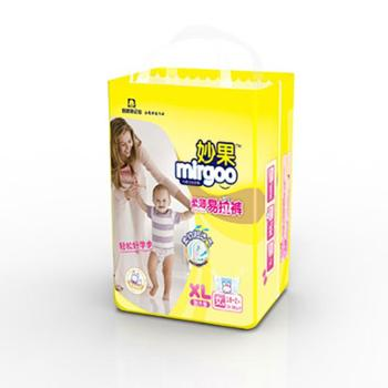妙果柔薄易拉裤女宝XL码18加2片2包40片婴儿纸尿裤宝宝尿不湿