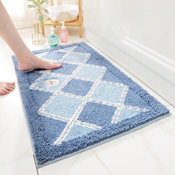家居地垫地毯植绒家用厕所浴室防滑垫入户玄关进门吸水脚垫