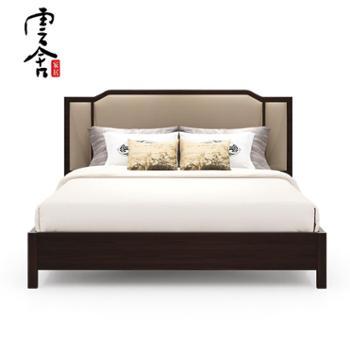 新中式家具实木床1.5米主卧室床双人床现代简约婚床1.8m