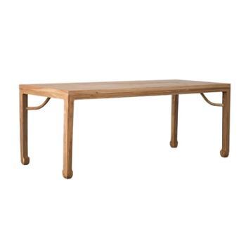 老榆木免漆新中式茶桌椅组合家具现代简约功夫茶台实木泡茶桌茶几
