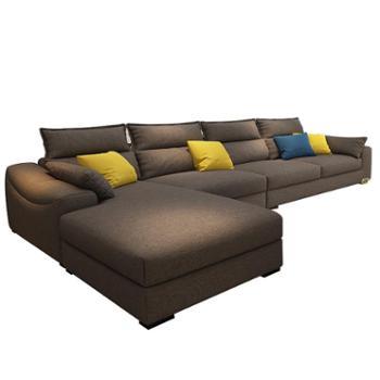 北欧小户型组合贵妃布艺沙发客厅整装家具沙发