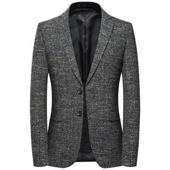 莱诗伯特男士休闲西装纯色西装外套男韩版修身便西男西装外套
