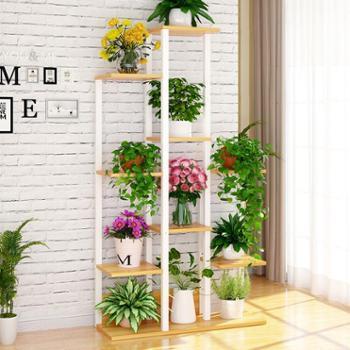多层落地式花架创意花盆架子良木阳台客厅多功能盆栽置物架