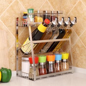 不锈钢厨房收纳架 壁挂式创意酱料置物调料架