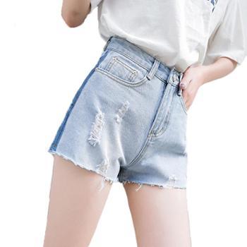 维蒙E族春夏季牛仔短裤子女显瘦百搭潮高腰阔腿宽松a字热裤 103