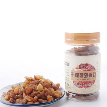 珍玉果新疆吐鲁番无核红香妃葡萄干180g×2罐